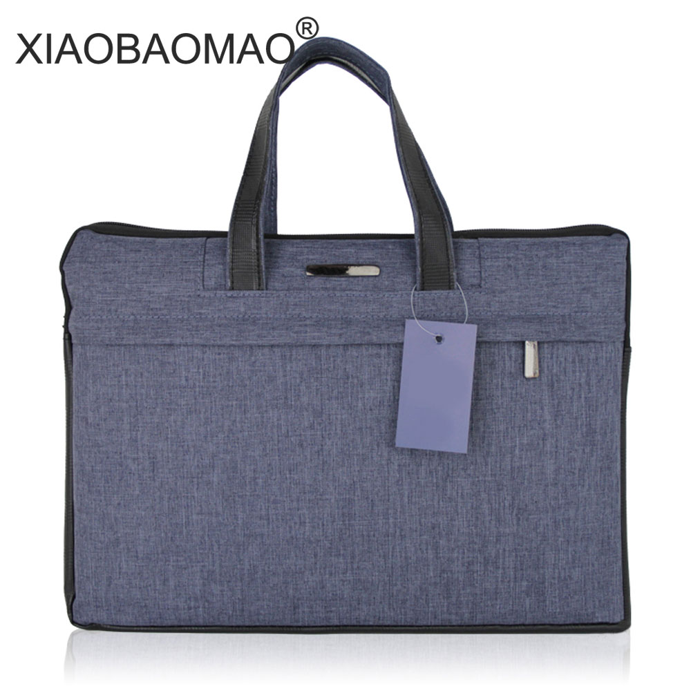 Business Fashion A4 Zipper Men Briefcase Document Bags High Capacity Portable File Folder/a Case For Documents /filing