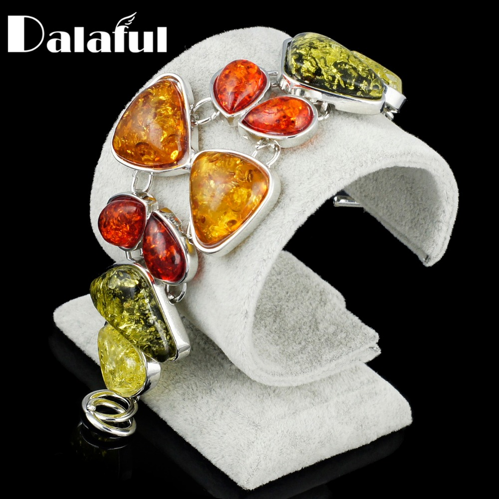 Discreet Baltic Simulated Imitation Amber Synthetic Bowknot Honey Colorful Link Bracelets & Bangles Bracelets For Women S009 Luxuriant In Design