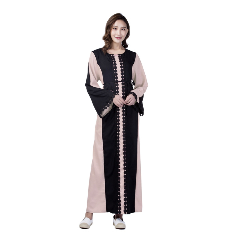 2018 Brand Fashion Muslim Dress Abaya Dress Robe Dresses Casual Kaftan Plus Size Robe Knitting Soft Vintage Dresses S-2xl To Win A High Admiration And Is Widely Trusted At Home And Abroad. Lights & Lighting