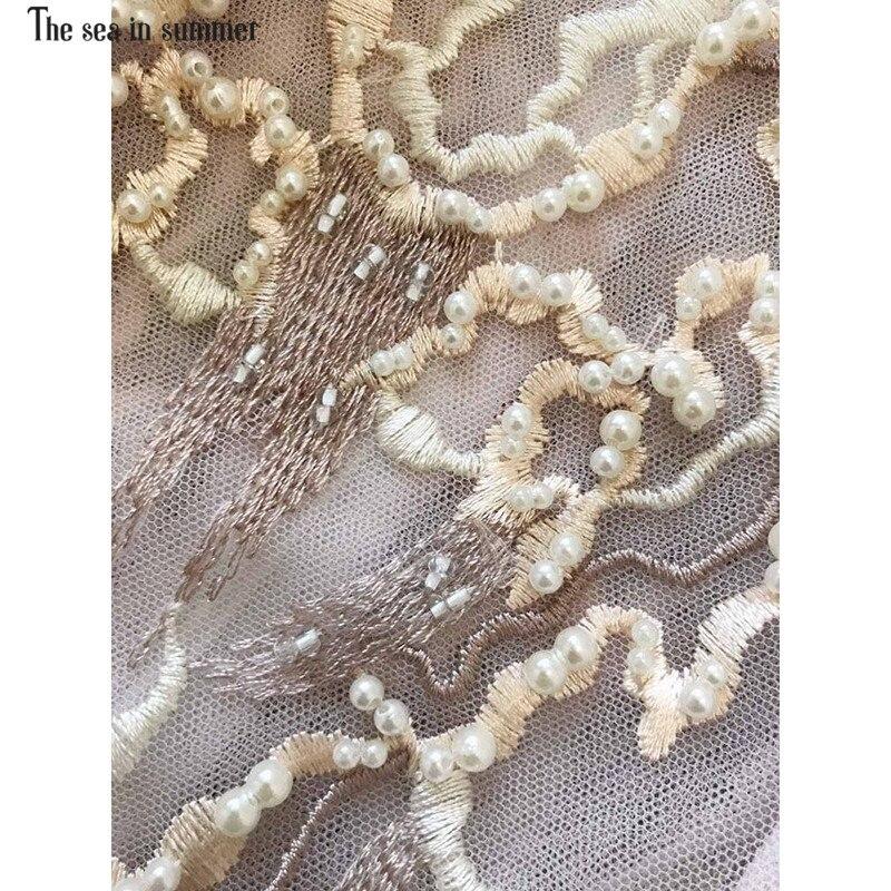 Haute Été Manches La Printemps 2019 Ete Broderie De Robe Soirée Dentelle Fin Mer Femmes Fashion En Flare Designer Femme Perles 6xxEwRpPq