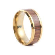 Wood & Titanium Steel Rings