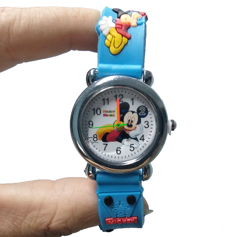 New 4D Cartoon Mouse Girl Boy Student Watch Children Silicone Quartz Wristwatches Kids Watches Christmas Gift Clock Reloj Mujer