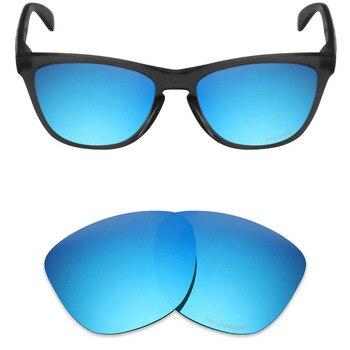 a35a257d2f Mryok + polarizadas resistir mar reemplazo Objetivos para Oakley FROGSKINS  Gafas de sol azul hielo