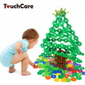 300PCS Snow Snowflake Building Blocks Toy Baby Early Educational Learning Toys Bricks DIY Assembling Christmas Kids Classic Toys