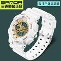Original de la Marca de Lujo 50 m Impermeable de Buceo Deportivo Reloj de Los Hombres S de Golpes Digital Cronógrafo relojes de cuarzo Mujeres 95g reloj