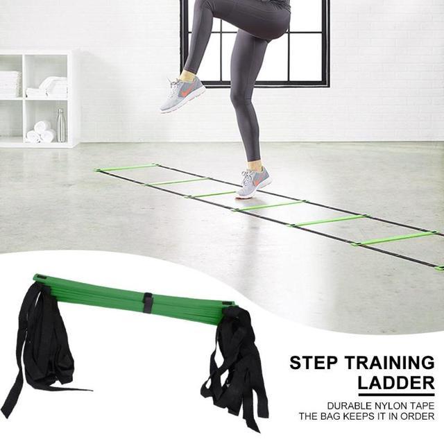 4/6/7/9/12/14 Rung Nylon Straps Agility Training Ladders Fitness Equipment 6