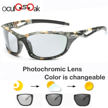 Photochromic Sunglasses Polarized Men Sport Sun glasses Camo Frame Eyewear UV400 Polaroid Oculos De Sol