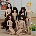 New 2017 Toy Nude Naked doll Toy /Joint Movable /Long Stright Curly Hair White Skin For Barbie Toy Doll Toys for Girls Gift