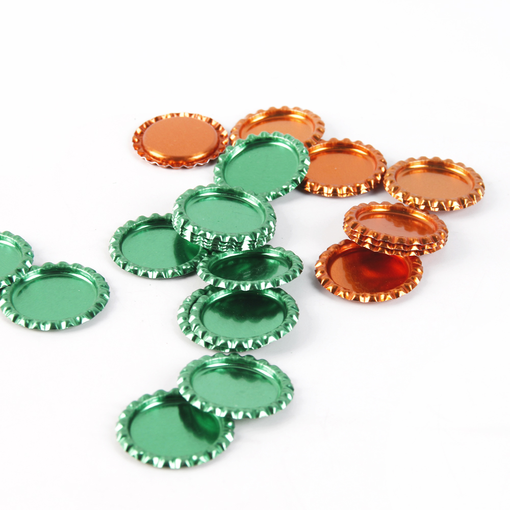 David Angie 25pcs 25mm Inside Colored Round Flattened Bottle Caps For DIY HairBow Crafts Necklace Jewelry Accessories,25Yc2202
