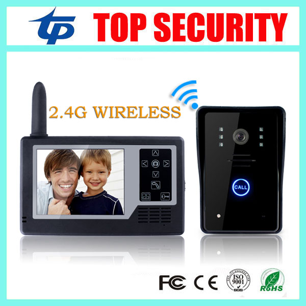 3.5 inch video door phone system max 300 meters wireless video door bell intercom door access control color wireless door phone 300m wireless 7 inch video door phone wireless intercom system access control