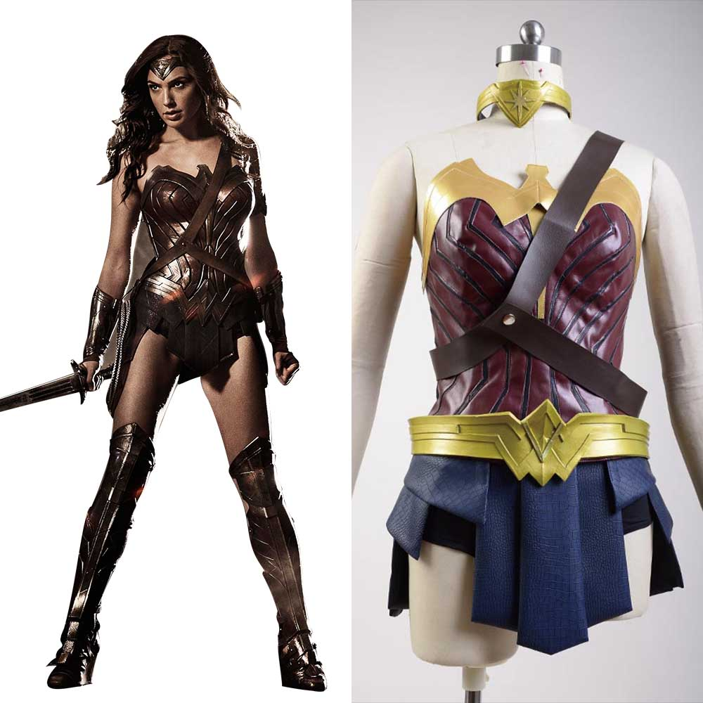 Batman v Superman:Dawn of Justice Wonder Woman Cosplay Costume Full Sets Wonder Diana Prince Adult Woman Cosplay Costume