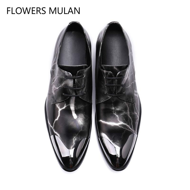 Italy Fashion Genuine Leather Men Oxford Shoes Lace Up Casual Business Men Shoes Brand Men Wedding Shoes Men Dress Shoes Cap Toe eu 53 men genuine leather shoes oxford dress shoes for men business shoes men lace up casual shoes big size b172
