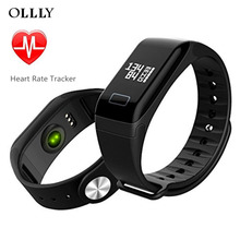 OLLLY Good Wristband Bracelet,Health Tracker with Coronary heart Charge Monitor Pedometer Exercise Tracker For Android iOS Telephone