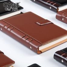 Cagie A5 / A6 / B5 Επιτραπέζια σημειωματάρια σπιράλ επιτραπέζιων επιτραπέζιων επιχειρήσεων σε μαύρο / καφέ χαρτί 80 σελίδων Πρόγραμμα σημειώσεων CA5H8625