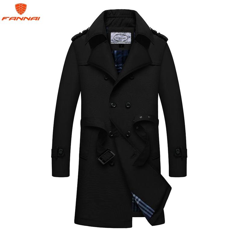 2019 New leisure   Trench   Coat Men Double Breasted Mens Coat Autumn and winter men's Long Jackets & Coats Overcoat