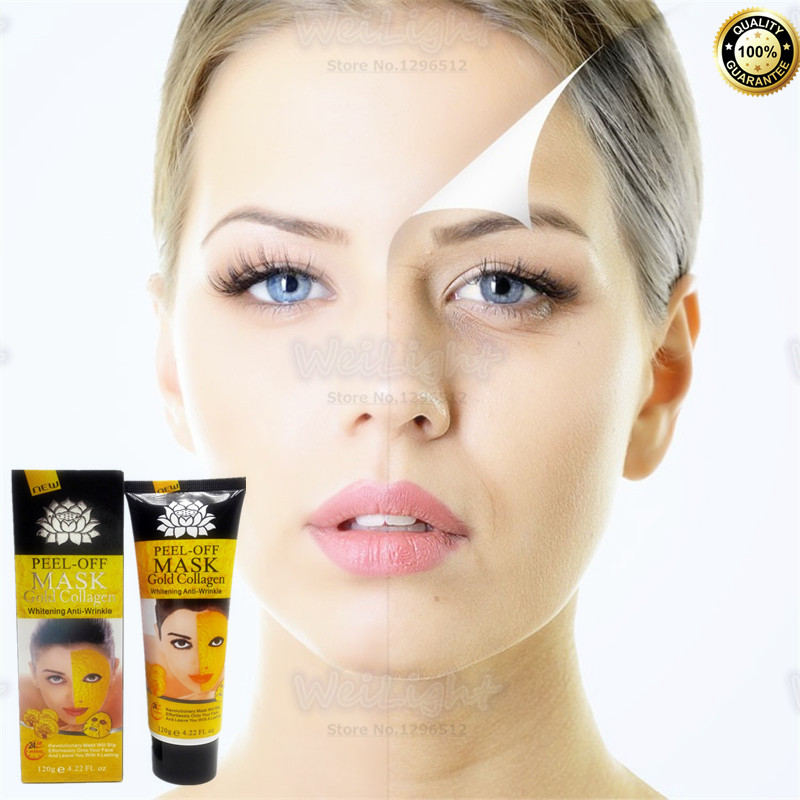 24K gold Deep Cleansing purifying peel off Black head Close pores facial mask, Skin recovery Facial mask face pack 120g