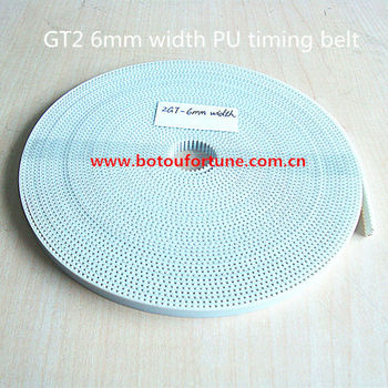 PU with steel core gt2 6mm width gt2 timing belt 50m a pack for 3d printer free shipping