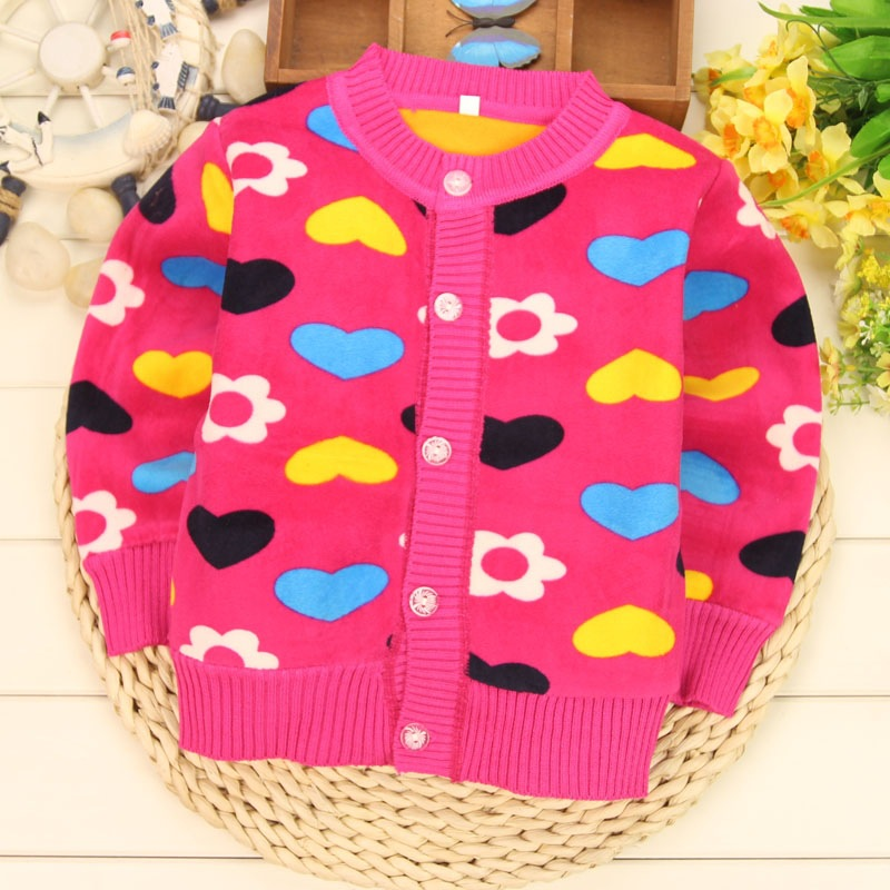 CHILDREN WIT Baby Sweaters Autumn Winter New Cartoon Long Sleeve Plus Thick Velvet Warm Clothes Kids Sweater For Boys Girls