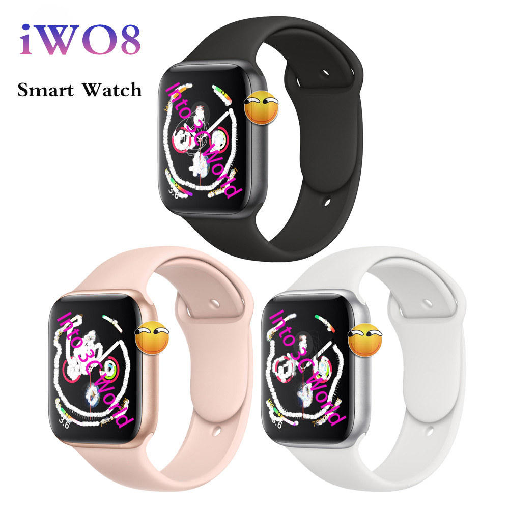 iWO 8 Smart Watch 44mm Watch 4 Heart Rate With Watch strap for apple iPhone Android iWO 5 6 Upgrade NOT Apple Watch