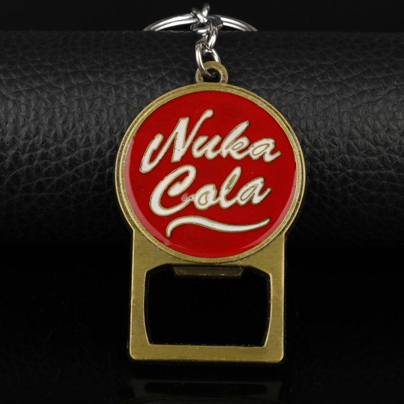 HEYu Pip Boy Simple Cute Nuka Cola Fallout Raduation 4 Alloy Keychain Bottle Opener Keyrings Men Bar Accessories