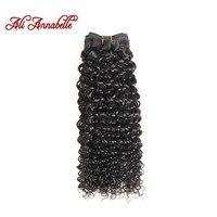 Ali Annabelle Hair Brazilian Kinky Curly Hair 100 Human Hair Weave Bundles Natural Color Human Hair