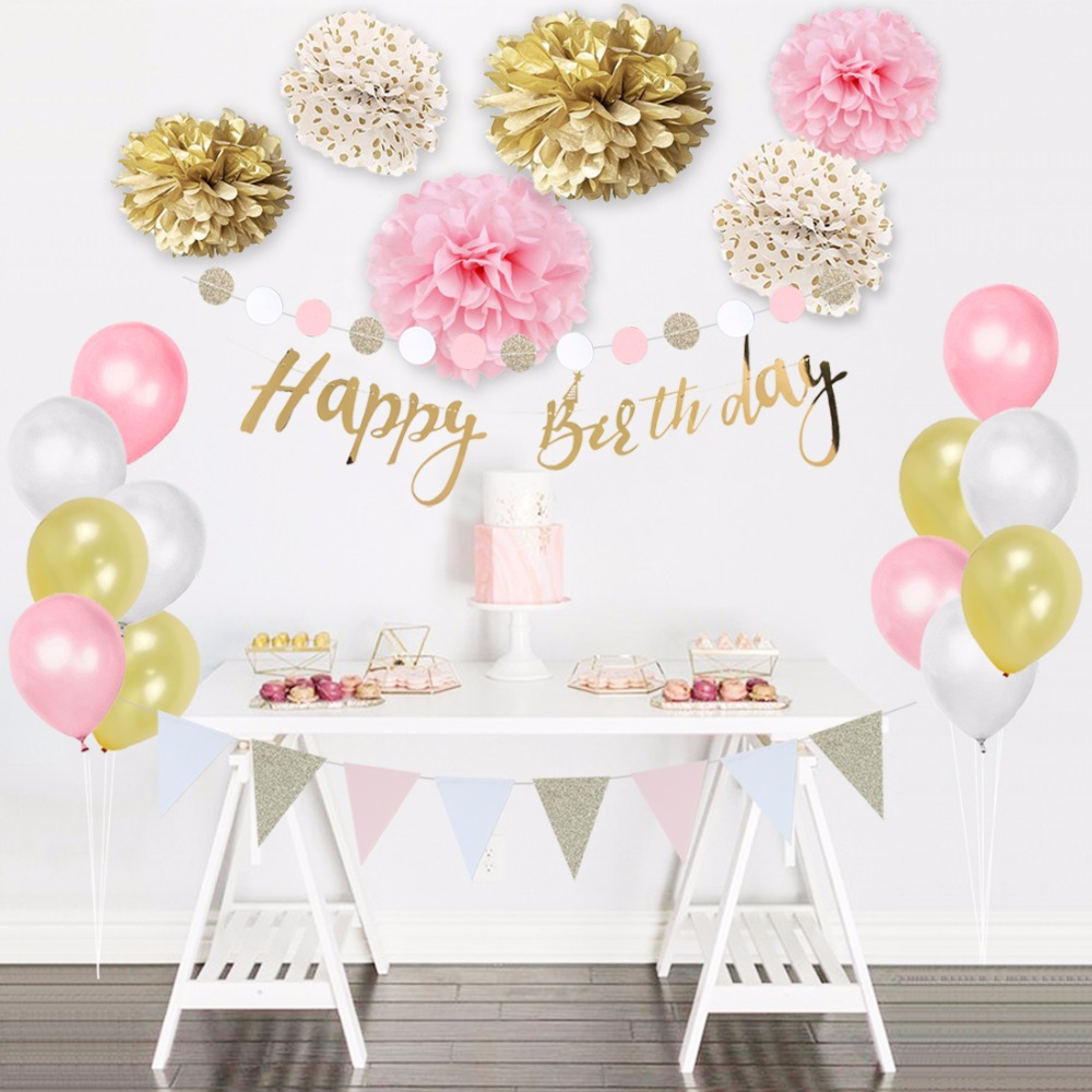 24Pieces/Set Happy Birthday Party Decorations Kids Girls ...