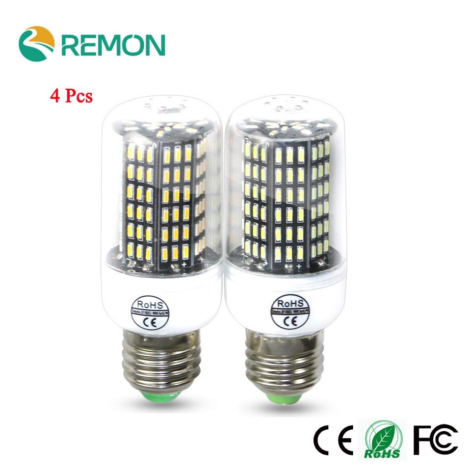 4Pcs LED Corn Bulb Lamp 4014 SMD No Flics