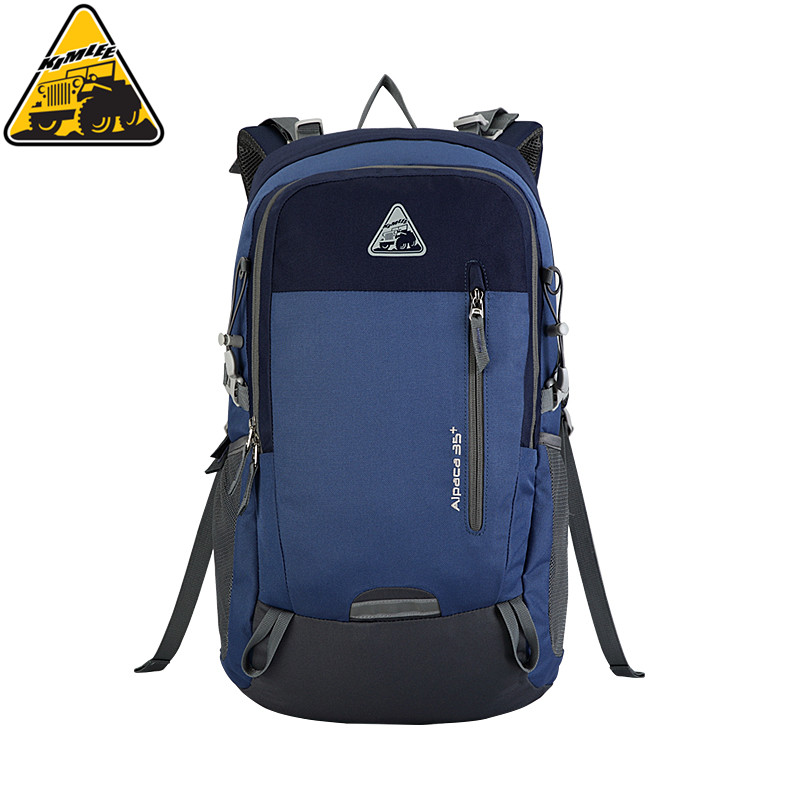 KIMLEE 35L Waterproof Climbing Bags Camping Hiking Travel Backpack Trekking Rucksack School Bag Blue/Army Green/ Red for Outdoor outdoor camping hiking survival water filtration purifier drinking pip straw army green