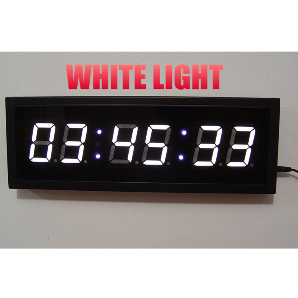 large remote 3d led digital wall clock modern design home. Black Bedroom Furniture Sets. Home Design Ideas