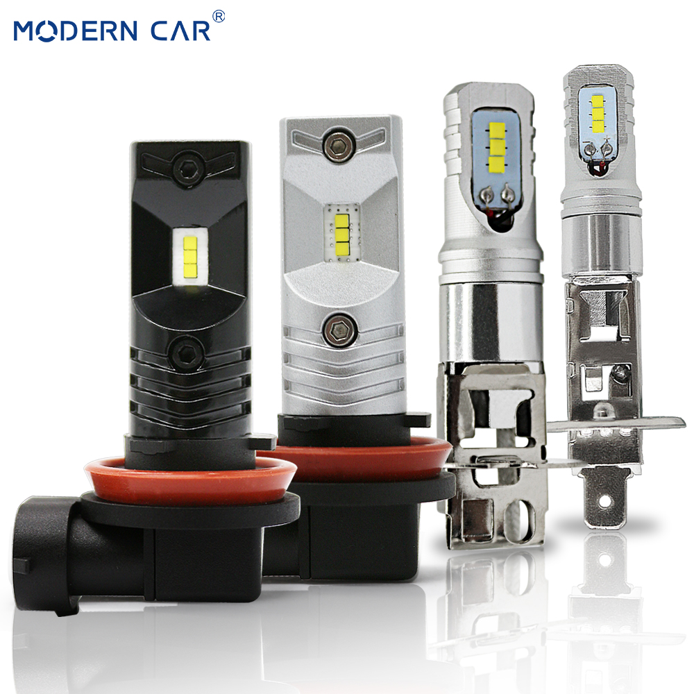 MODERN CAR 60W H1 H3 H11 H8 9005 9006 H7 LED Fog Light Bulbs CSP Driving Running Lights DRL Fog Lamp Bulb 3000lm Car Styling 12V