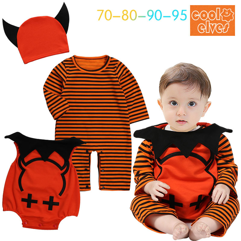 Halloween Cosplay costume carnaval Children jumpsuit baby rompers party pumpin cosplay costume for kids