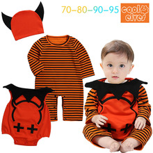 Halloween Cosplay costume carnaval Children jumpsuit baby rompers party pumpin cosplay for kids