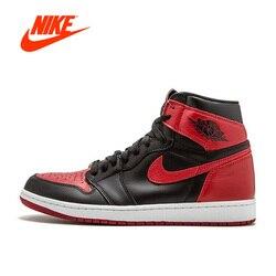 Original New Arrival Official Nike Air Jordan 1 OG Banned AJ1 Breathable Men's Basketball Shoes Sports Sneakers