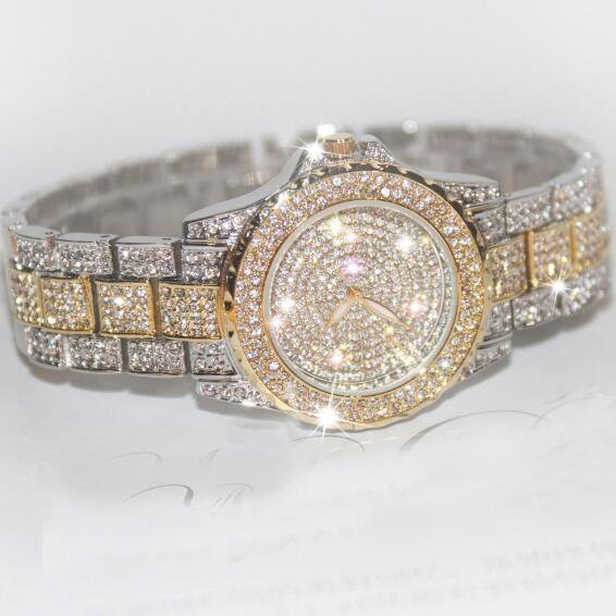 Hot Sales! Luksus Crystal Women Watches! Kvindelig Diamond Kjole Se - Dameure - Foto 1