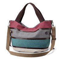Woman Canva Classic Multi color Large Shopper Casual Tote Shoulder Bag s Handbags LT88