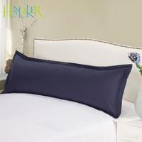 Macarons Color Long Pillowcase Soft Breathable Cotton Pillow Case Cover