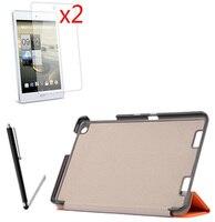 4in1 Folio Stand נרתיק עור Ultra Slim דק מגנטי יוקרה חכם כיסוי + 2x A1-830 סרטים + 1x Stylus עבור Acer Iconia Tab 7.9