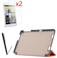 4in1 Luxury Ultra Thin Slim Magnetic Folio Stand Leather Case Smart Cover 2x Films 1x Stylus