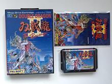 MD Spel: DOUBLE DRAGON 2 (Japan Versie!! Doos + handleiding + cartridge!!)
