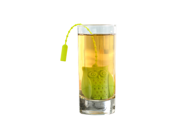 Set of 4 Silicone Owl Tea Bag Creative Silicone Tea Infuser Filter for Mug Tea Pot Empty Tea Bags for Loose Tea Kitchen Accessories (8)