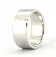 Tailor Made 9mm plata esterlina plana anillo de boda ee.uu. tamaño 4-16 (# GP002)