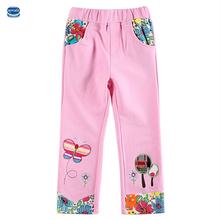 novatx brand baby girl pants print flower embroidery pink and fuchsia girl pants kids pants for girls children clothes G5880