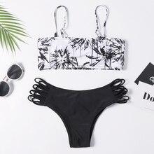 Bikini 2019 Sexy Women Bandeau Bandage Set Push-Up Brazilian Swimwear Beachwear Swimsuit Patchwork Biquini Hot