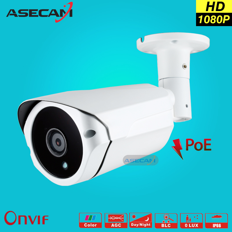 New 2MP IP Camera 1080P Surveillance POE 48V Security Home CCTV Array infrared Bullet Metal white Outdoor network Cam webcam hd 2mp h 265 home security ip camera surveillance bullet network cctv camera wdr poe high resoultion with sony291 chipset