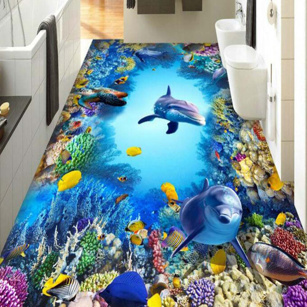 Sea World 3D Wallpaper Murals for Living Room Bedroom Photo Print Wallpapers 3 d Wall Paper Papier Modern Wall Coverings european church square ceiling frescoes murals living room bedroom study paper 3d wallpaper