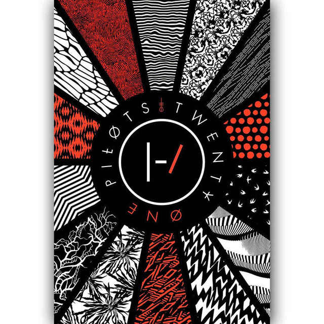 Twenty One Pilots Pattern Custom Flag Pop Rock Music Band SILK POSTER Wall painting 24x36inch