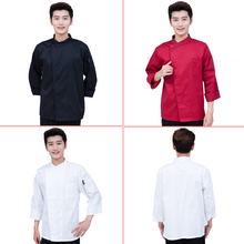 3-colour Long Sleeve Chef Uniforms Hotel Restaurant Kitchen Cook Jackets for Men and Women Overalls Chef Wear Work Clothes
