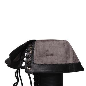 Image 5 - MORAZORA 2020 جديد جلد طبيعي حذاء برقبة للركبة النساء أزياء من الدانتل حتى مربع عالية الكعب أشار تو الشتاء الثلوج الأحذية الإناث