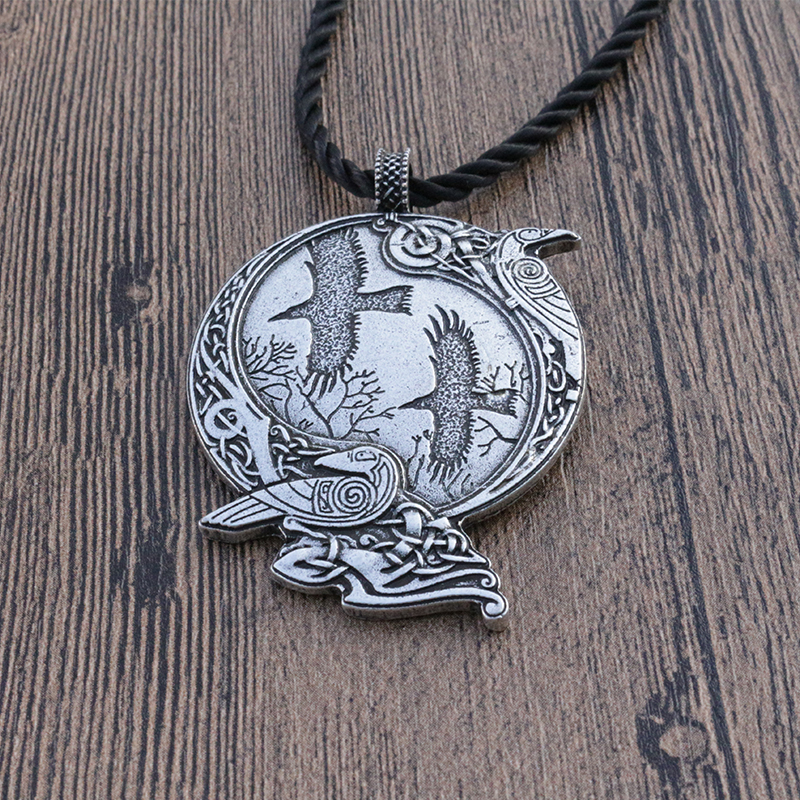 1pcs lanseis Odin Raven Pagan Symbol pendant Viking men Norse Gods necklace Celt Norse Rune jewelry new original lcd touch screen digitizer with frame for 2013 asus google nexus7 fhd 2nd gen k008 me571 lte 3g free shipping