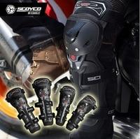 2016 New Scoyco K11 H11 off road motorcycle racing knee pads elbow pads 4 PCS Moto riding popular brands brace Upgraded Black